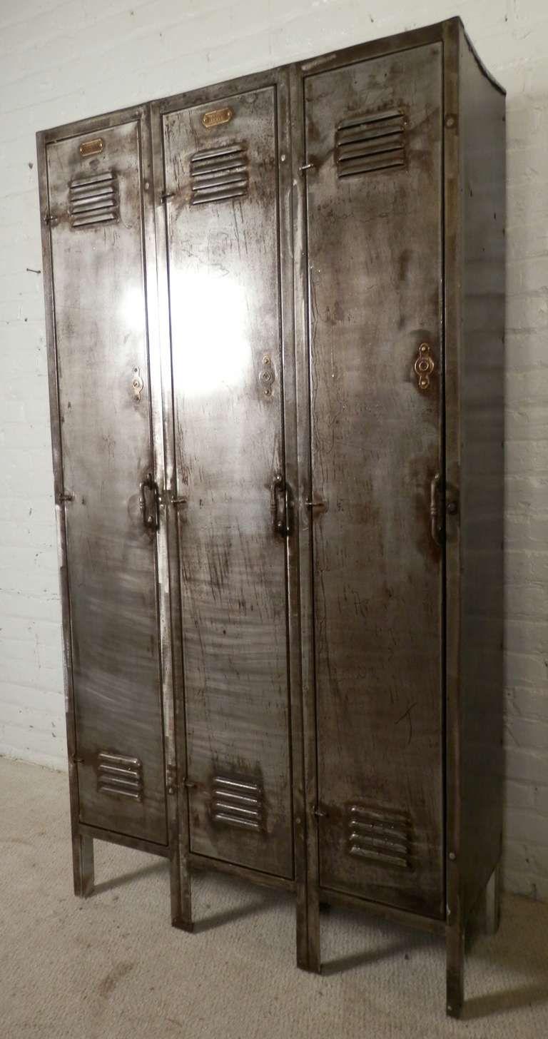 Vintage Three Door Locker image 2