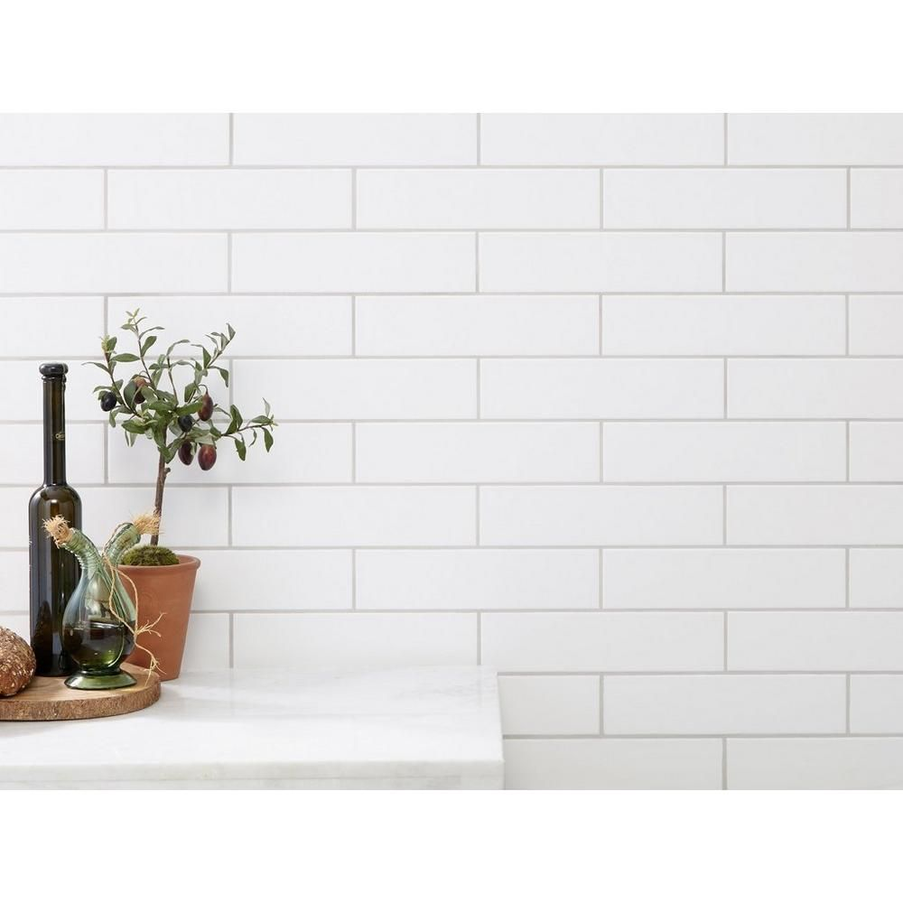 Meringue Matte Ceramic Tile Matte Subway Tile Backsplash Tiles Ceramic Tiles
