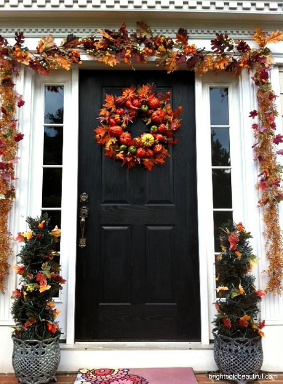 Decorate Your Porch For Fall - Holiday Decorating Ideas - Home - ways to decorate for halloween