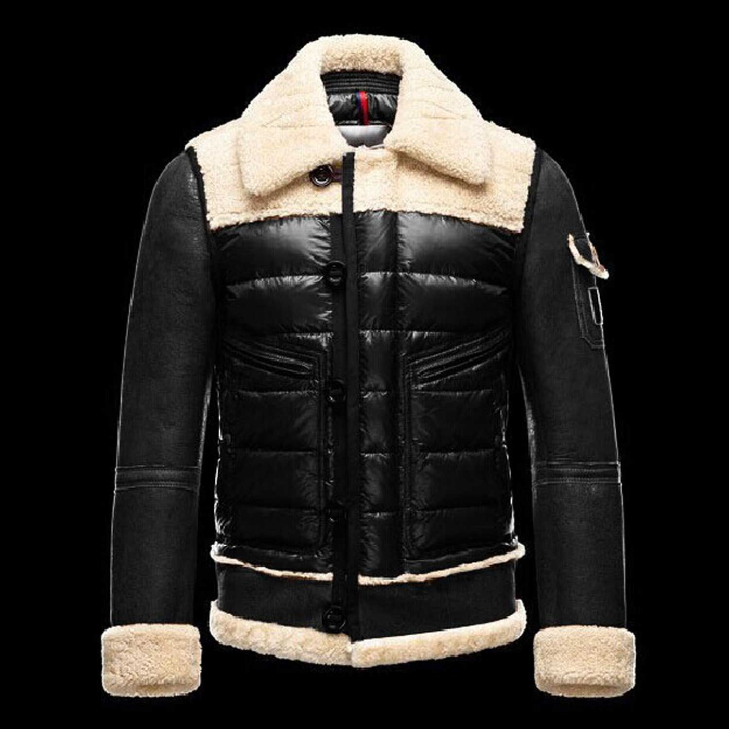 2013 Moncler Mens Jacket Filler: white goose down Sleeve Kind: Common  Sleeve Sleeve Duration: Long Sleeve Clothing Placket: Zipper For the actual  group: Men ...