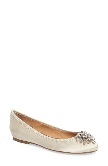 fcf2aebc0 Free shipping and returns on Badgley Mischka Bianca Embellished Ballet Flat  (Women) at Nordstrom