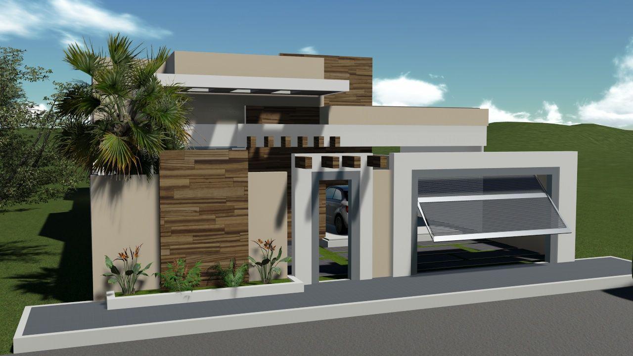 Casa Digital Casa Terrea Platibanda Cod T01 Casa Y
