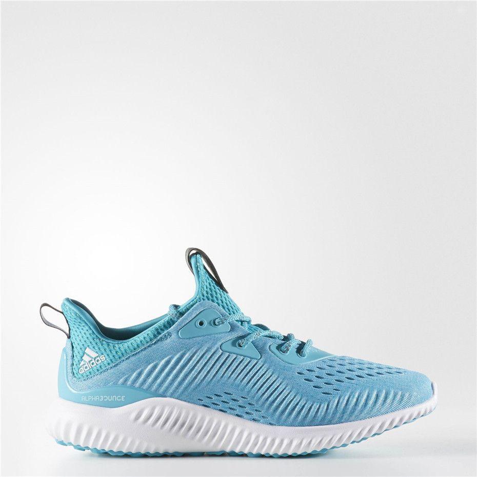 c68b37cc6cbb Adidas alphabounce Engineered Mesh Shoes (Energy Blue   Running White Ftw    Clear Aqua)
