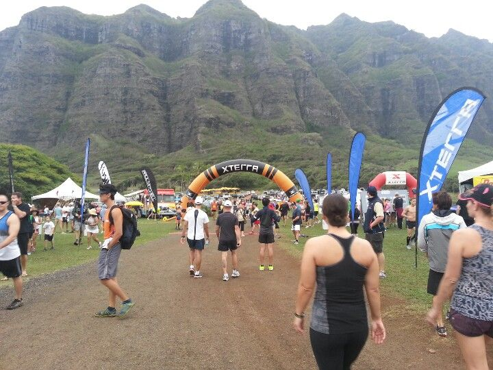 Xterra 21K  championship trail race...Oahu, Hawaii