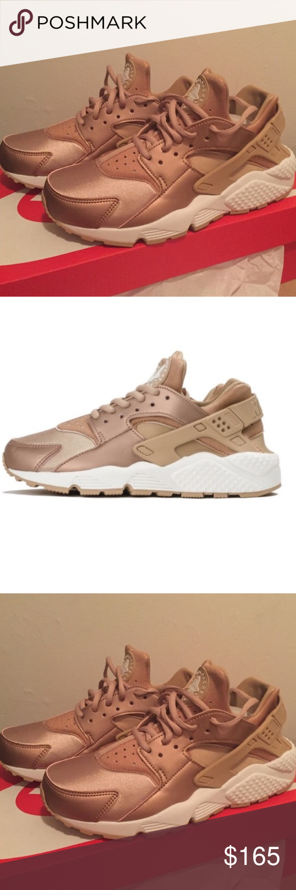 online retailer 5e8ad da4b2 Rose Gold Nike Air Huaraches Brand new limited edition Nike Huaraches in rose  gold. Never worn and still in box! Nike Shoes Sneakers