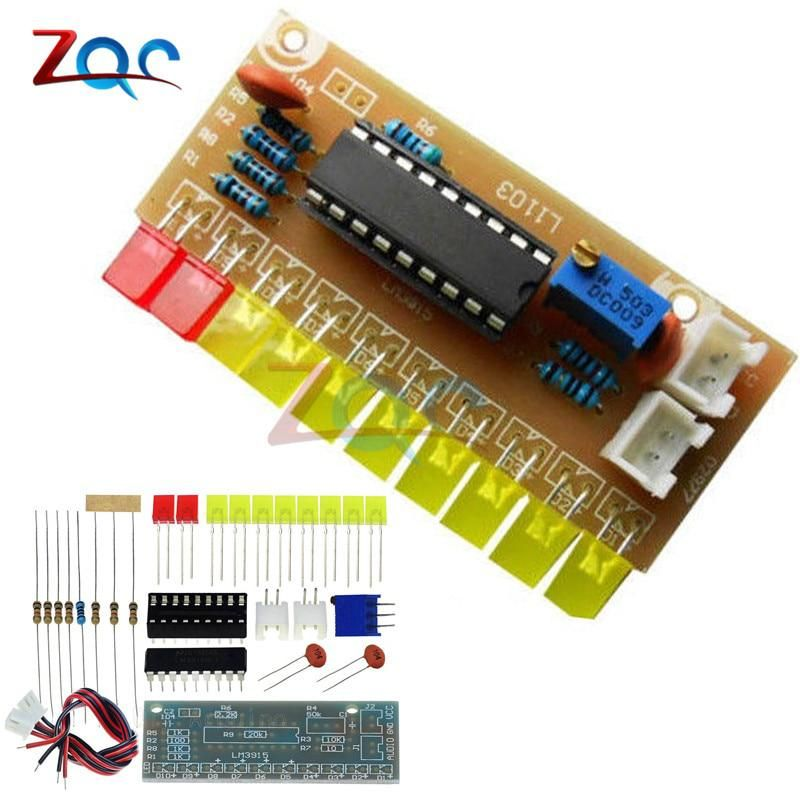 Funny 10 LED Audio Level Indicator LM3915 DIY Kit Electronic