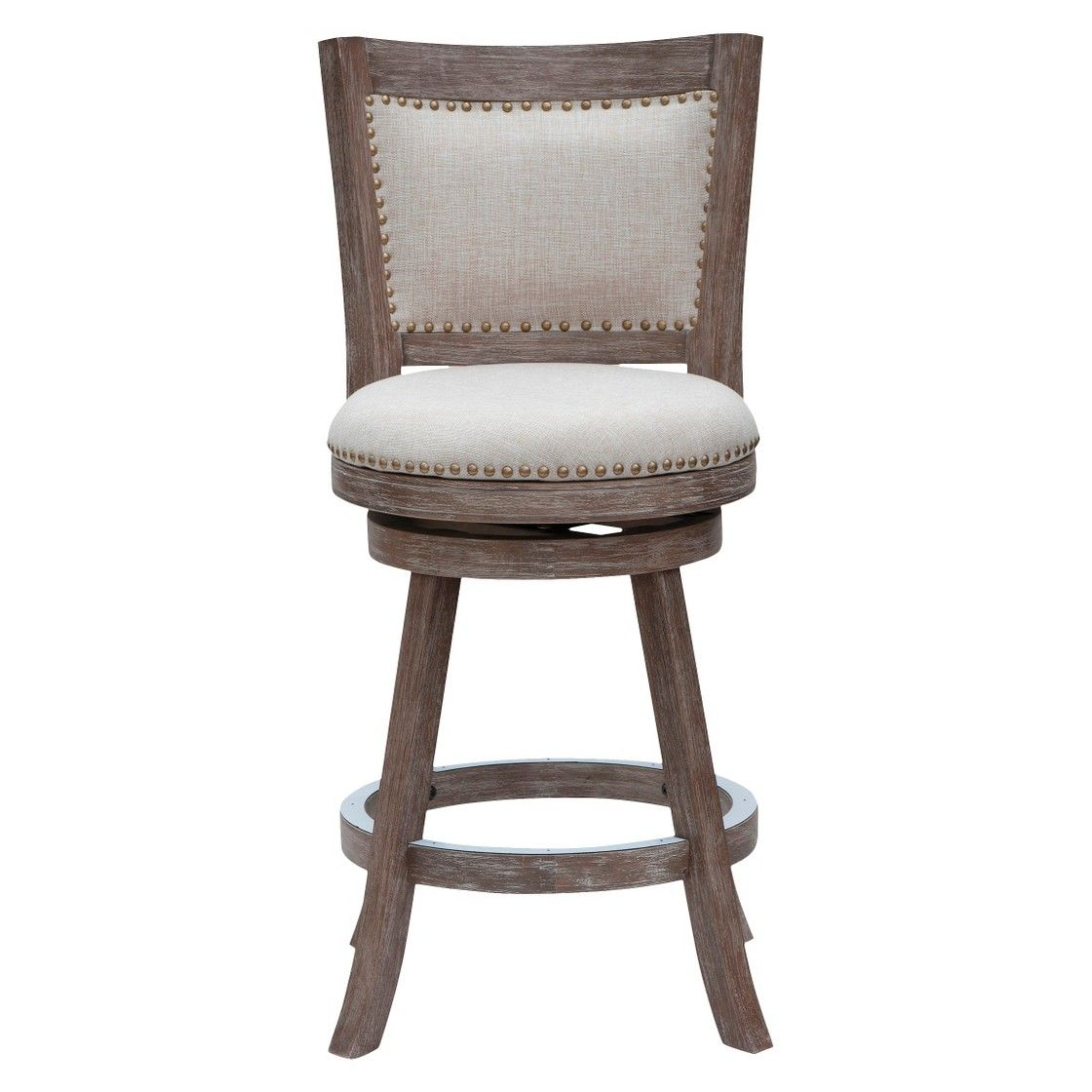 24 Quot Melrose Distressed Counter Stool Driftwood Ivory