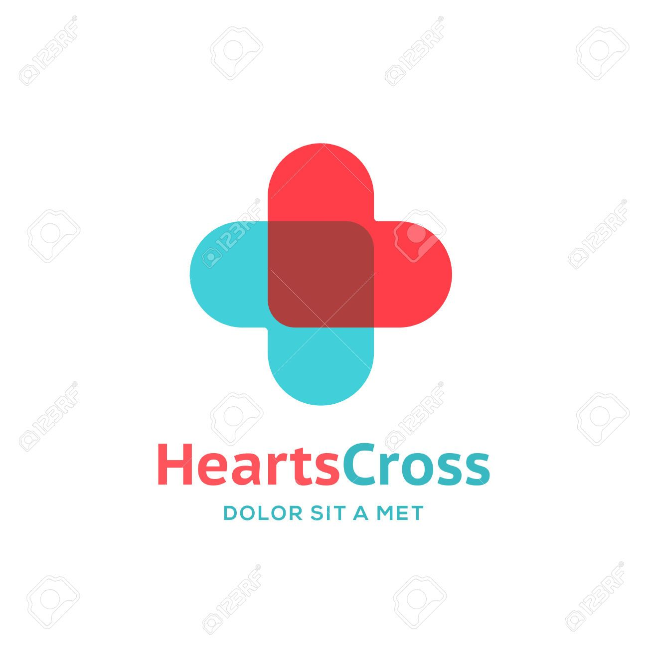 Cross Plus Heart Medical Logo Icon Design Template Elements ...