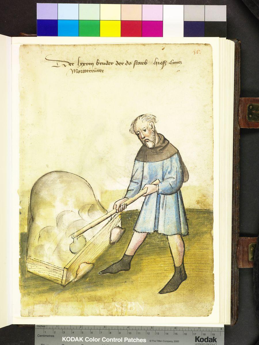 Mendel Housebook, Amb. 317.2° Folio 36 recto, c 1425, Nuremberg (Nürnberg)