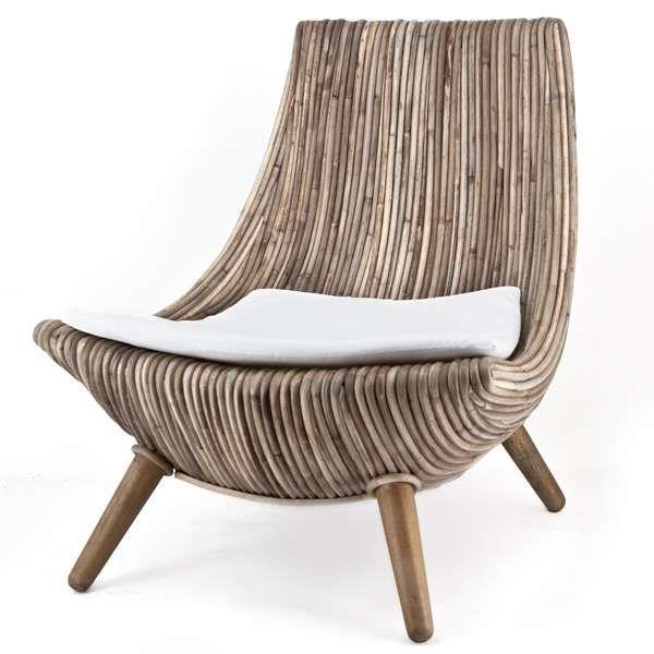 Relaxsessel HANCOCK Sessel Fernsehsessel TV Lounge Sessel Clubsessel Bambus