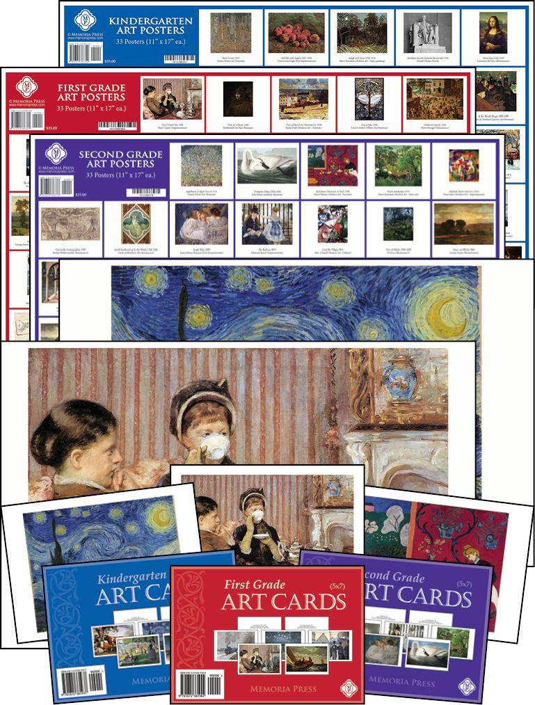 Art Cards Posters Memoria Press Classical Christian Curriculum First Grade Art Homeschool Art Kindergarten Art