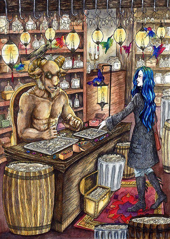 (Daughter of Smoke and Bone) Brimstone and Karou