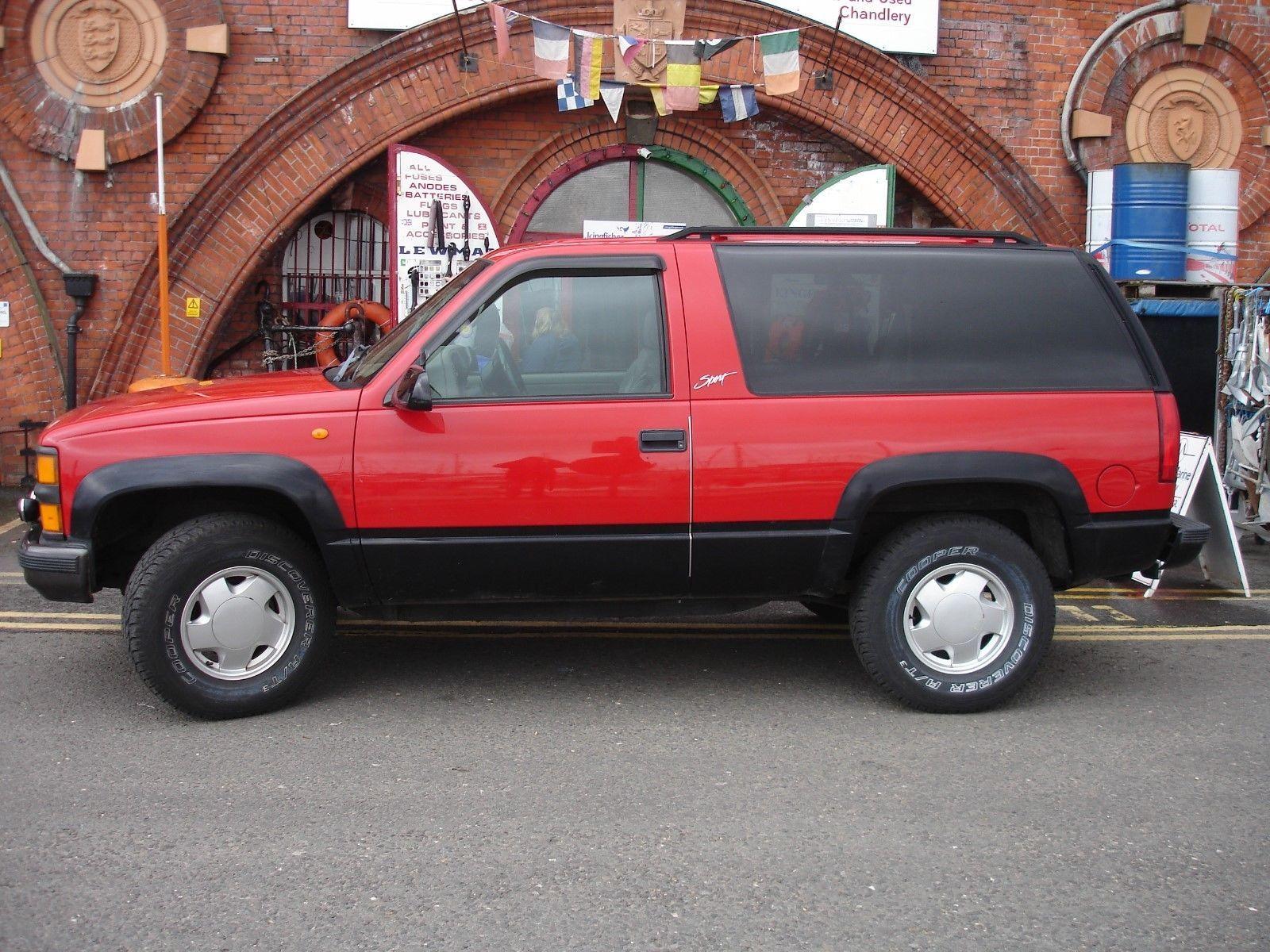 Ebay Chevrolet Tahoe Sports 4x4 Z71 1997 Red 3 Door Low Miles