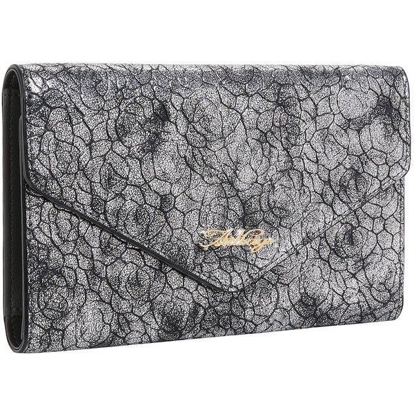 AITBAGS Women PU Leather Envelope Trifold Clutch Wallet Long Purse... ($11) ❤ liked on Polyvore featuring bags, wallets, card holder wallet, card case wallet, long wallet, long clutch wallet and pu leather bag