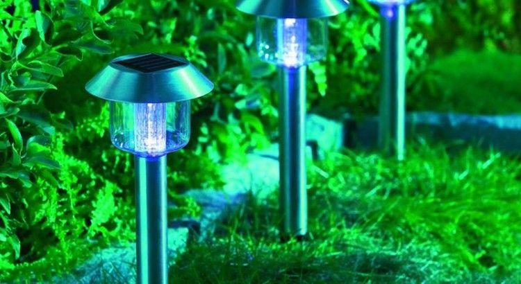 L\'éclairage solaire du jardin | Idées déco | Pinterest | Eclairage ...