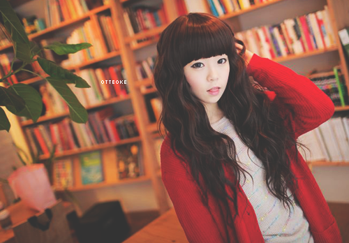 Long Black Curly With Bangs