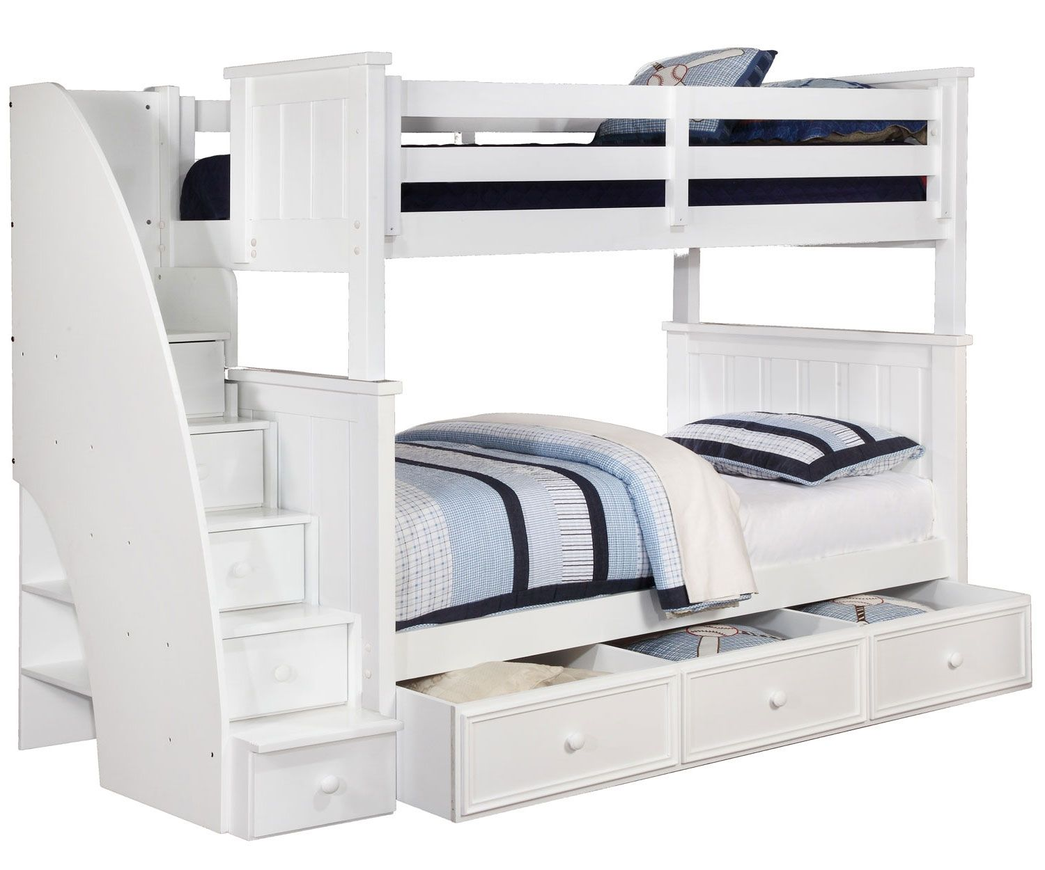 Abel Full Over Full Bunk Bed With Drawers Staircase Bunk Bed Bunk Beds With Drawers Bunk Bed With Trundle