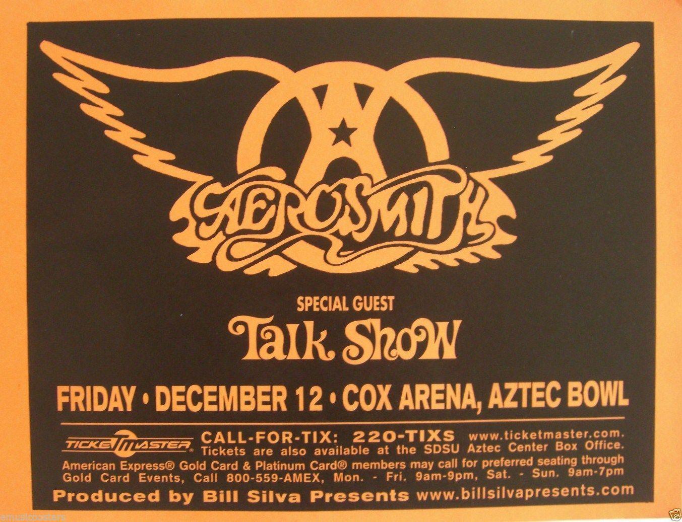 Vintage Aerosmith Poster Google Search Anos 70 80 90 Anos 70 Show