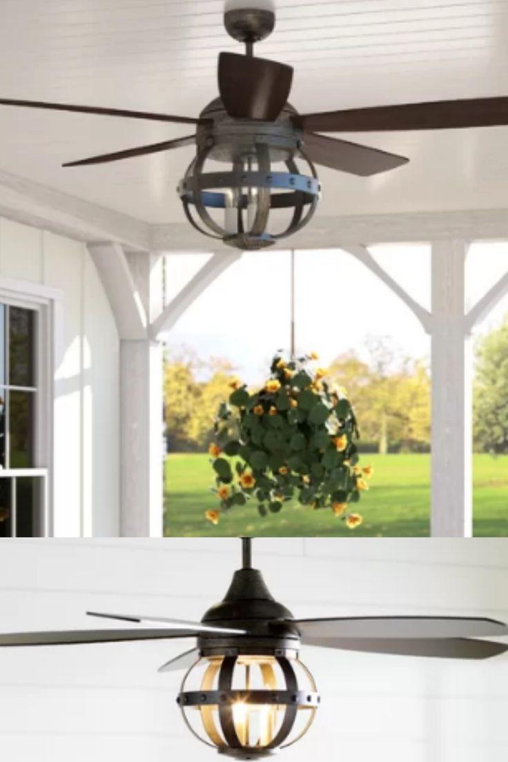 Industrial style modern farmhouse ceiling fan perfect