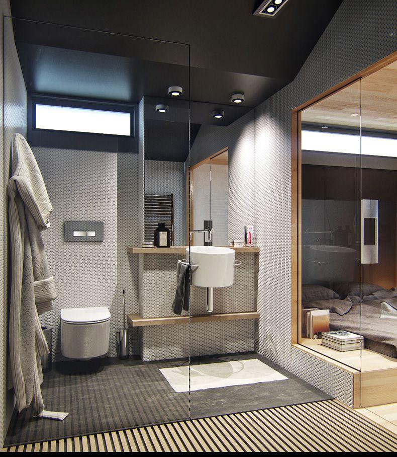Dise o de peque o apartamento incluye planos y decoraci n Diseno de interiores de banos modernos