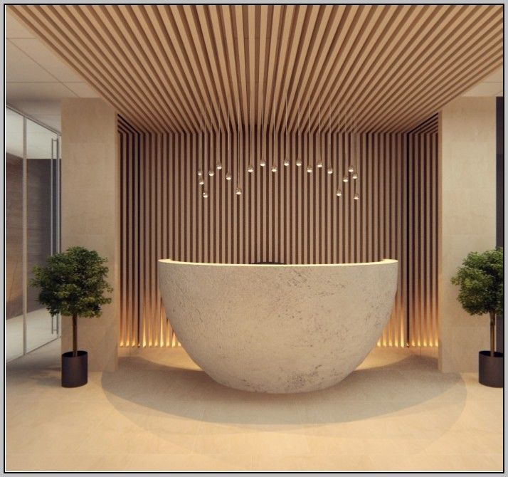 Curved reception desk plans pinteres for Design hotel reception