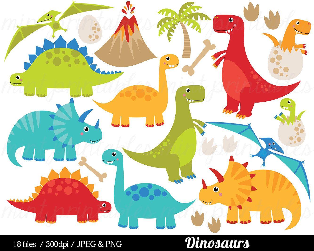Dinosaur Clipart Dinosaurs Clip Art Tyrannosaurus Rex Stegosaurus Triceratops Pterodactyl Egg Commercial Personal Buy 2 Get 1 Free Dinosaur Clip Art Clip Art Digital Clip Art Set