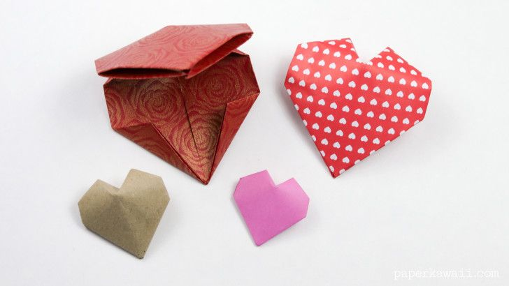 Origami 3d Puffy Heart Instructions Origami Kawaii And 3d