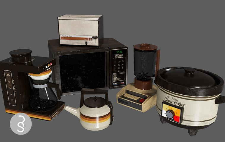 80s Kitchen Appliance Pack Sponsored 3d Affiliate Appliance