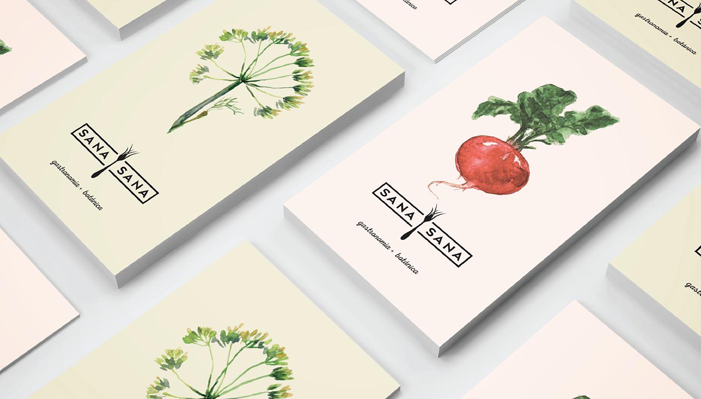Sana Sana on Behance Healthy restaurant, Logo restaurant