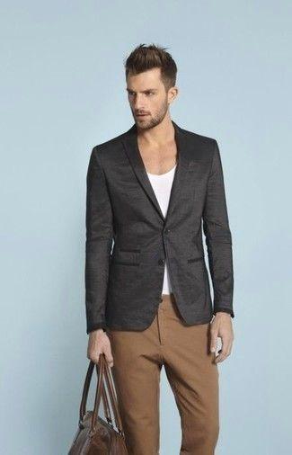 Cómo combinar un blazer gris oscuro en 2017 (612 formas) | Moda para Hombres
