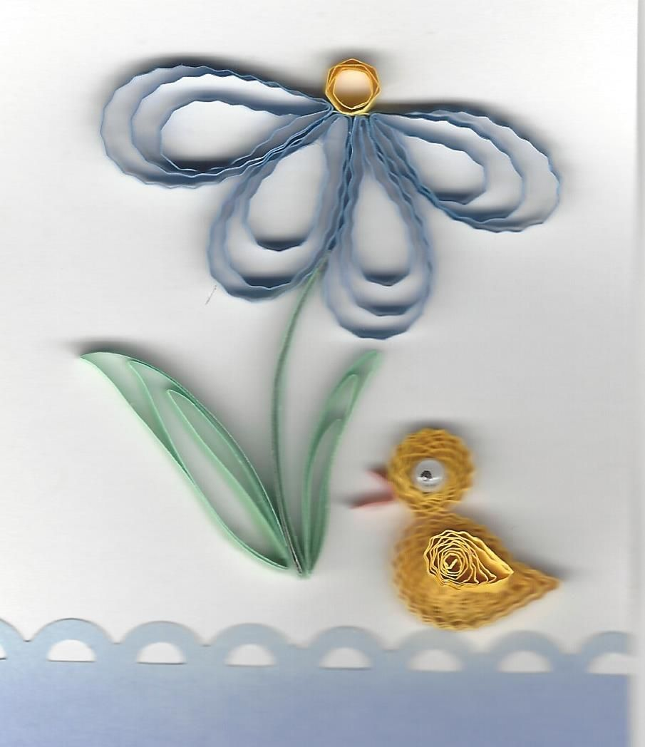 duckling.jpg | Toni pins | Pinterest | Quilling patterns, Quilling ...
