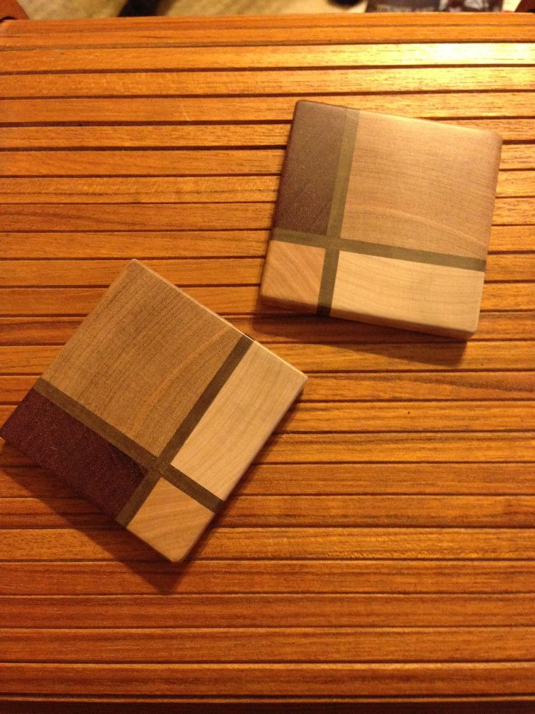 Guy Makes Beautiful Coasters As A Quick Gift With Just