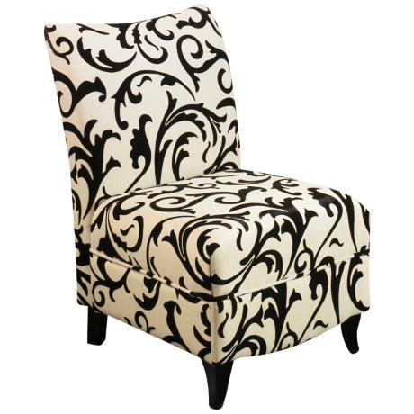 Camelot Pattern Armless Club Chair