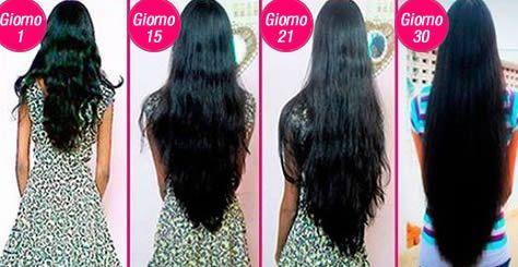 far crescere velocemente i capelli
