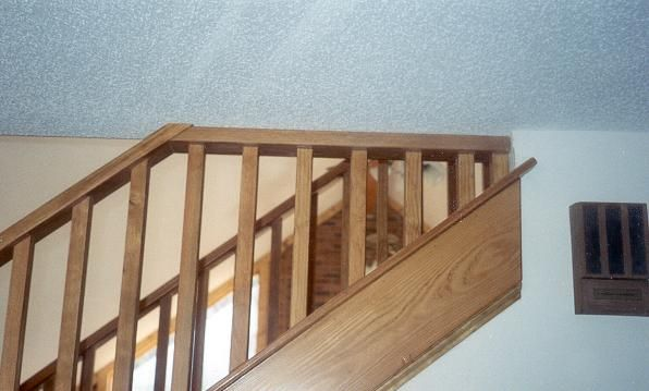 Closed Stringer Half Wall Staircase Like Ours Staircase | Attaching Handrail To Wall | Stair Parts | Brick | Wood | Staircase | Scr*W