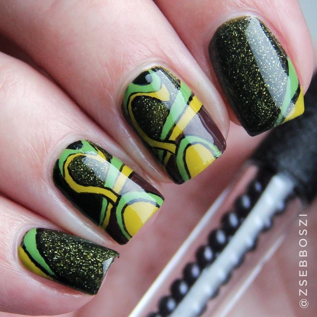 Creative painting nail art design with drawing brush, see more ...