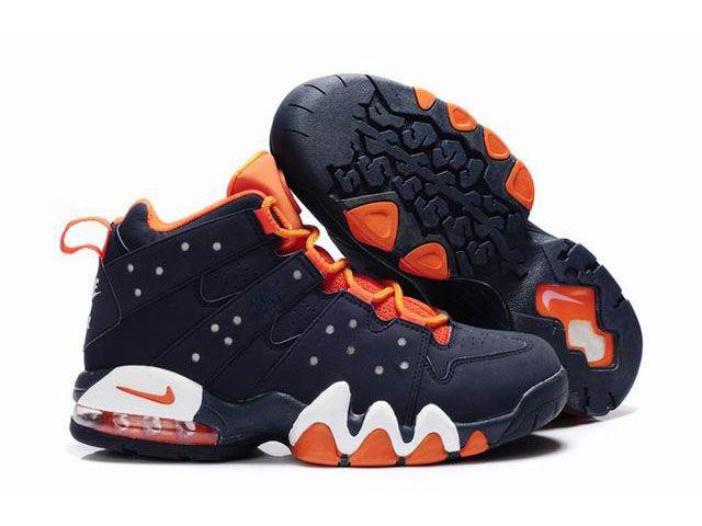 New Nike Air Max2 CB 94 Dark Blue/Orange - Charles Barkley Shoes