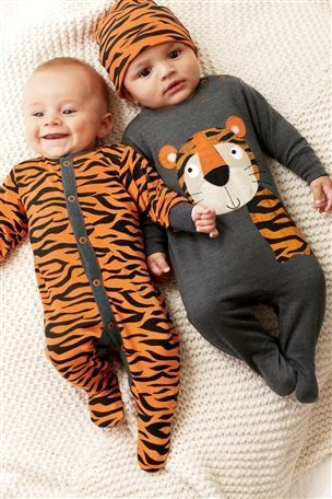 Twin idea Tiger Sleepsuits Next direct, best website ever for cute baby clothes!