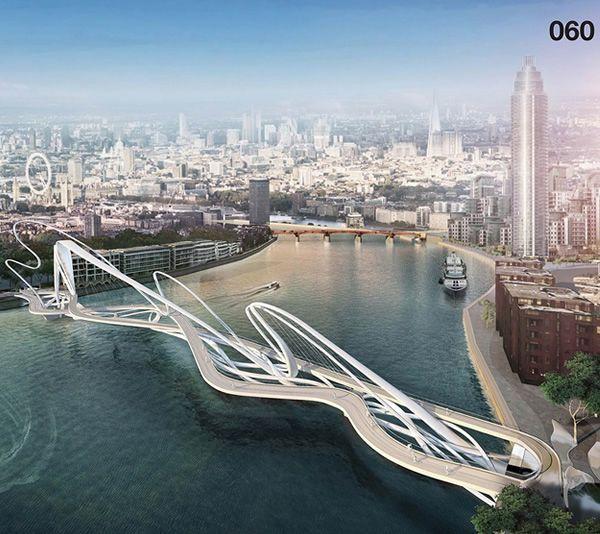 15 designs de pont futuriste pour londres londres ponts et architecture futuriste. Black Bedroom Furniture Sets. Home Design Ideas