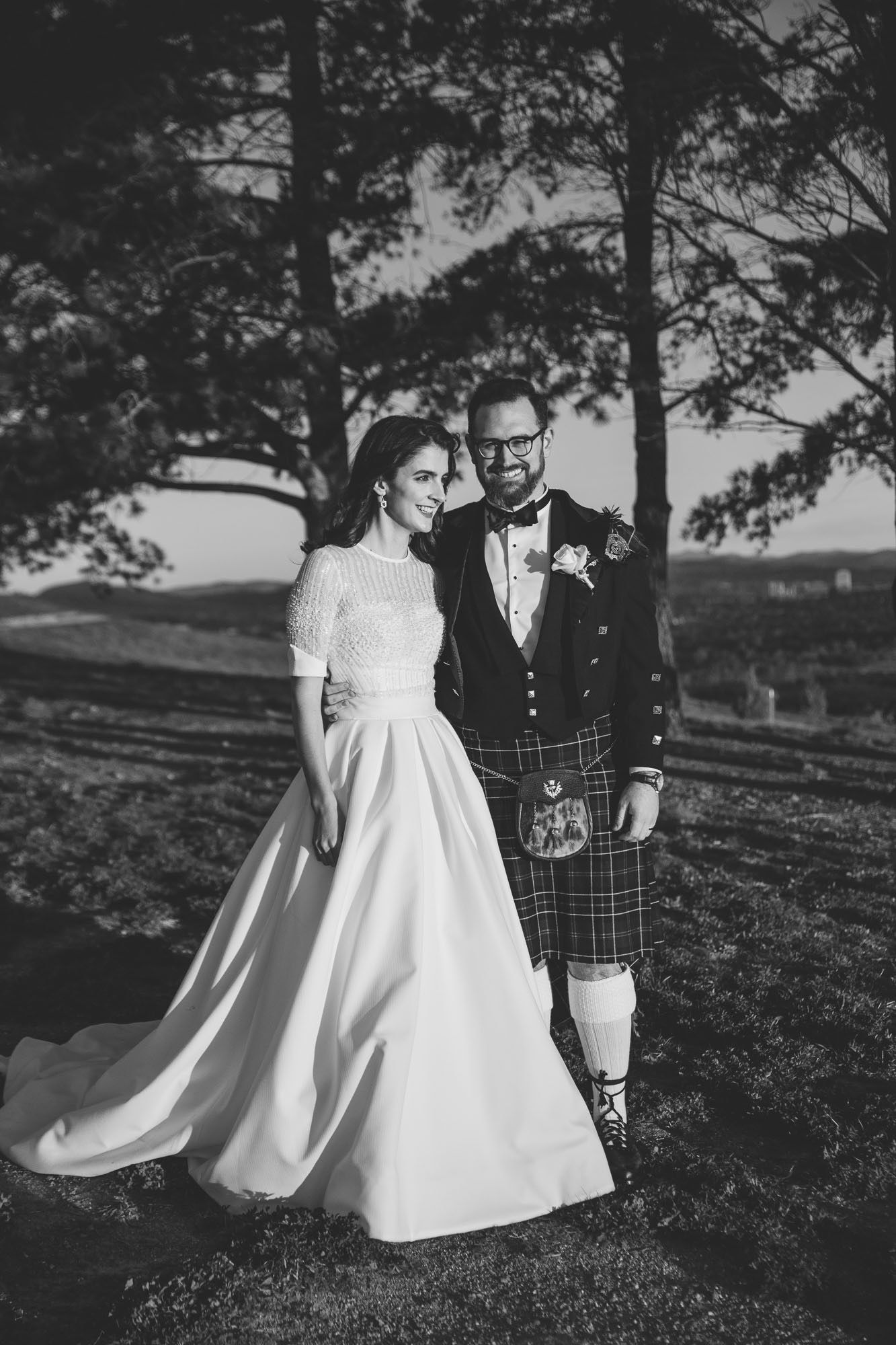 Forest pictures black and white wedding