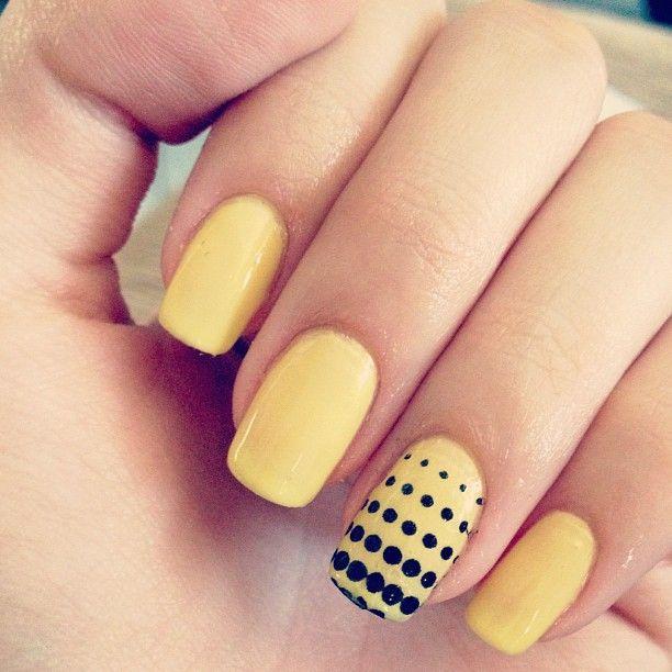 Pin By Kenzie Bushen On Nails Yellow Nail Art Yellow Nails Yellow Nails Design