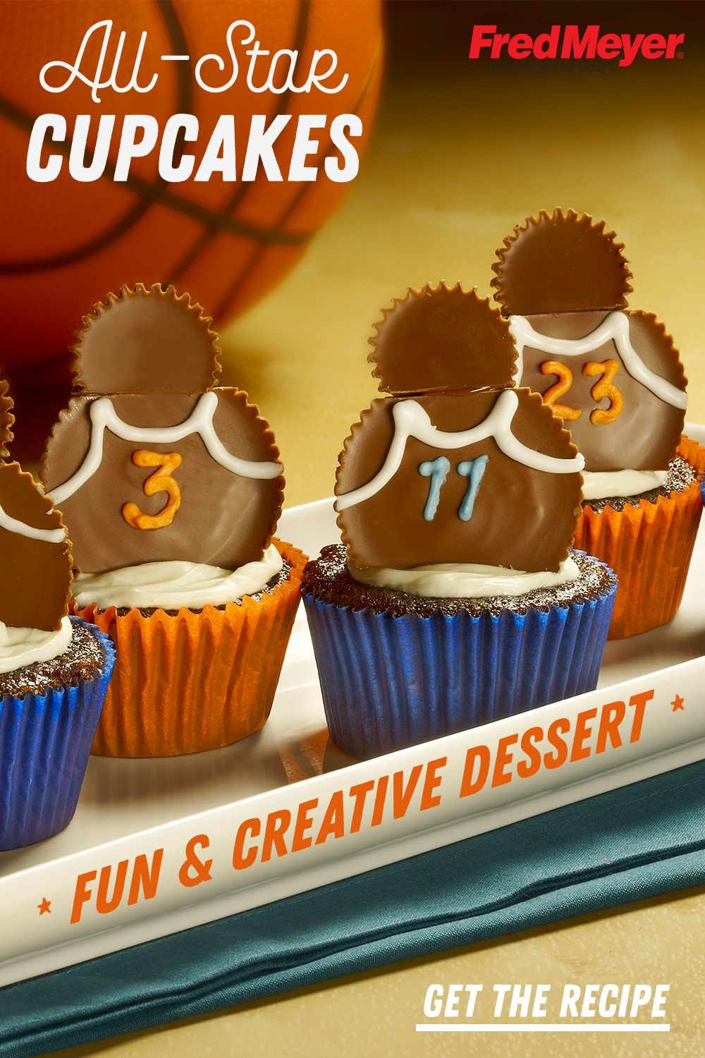Awe Inspiring Reeses All Star Team Cupcakes Recipe Creative Desserts Funny Birthday Cards Online Inifofree Goldxyz