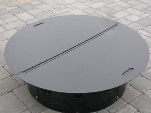 Round Steel Fire Pit Cover Snuffer Www Firebuggz 139 00 Fire Pit With Lid Latest Fire Pit With Lid Galle Fire Pit Plans Fire Pit Furniture Fire Pit Decor