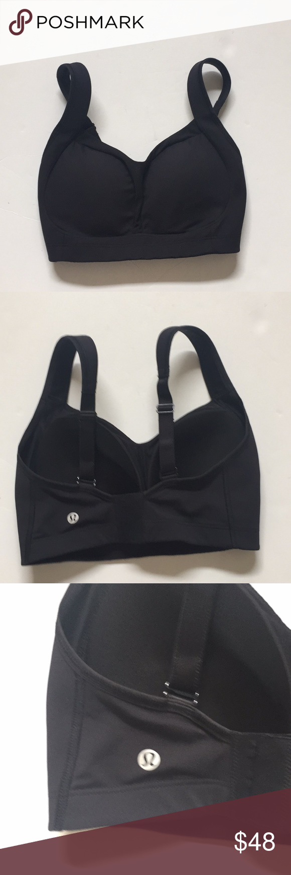 cbd45e9755332 Lululemon ta ta tamer sports bra adjustable black Lululemon I believe is  the ta ta tamer