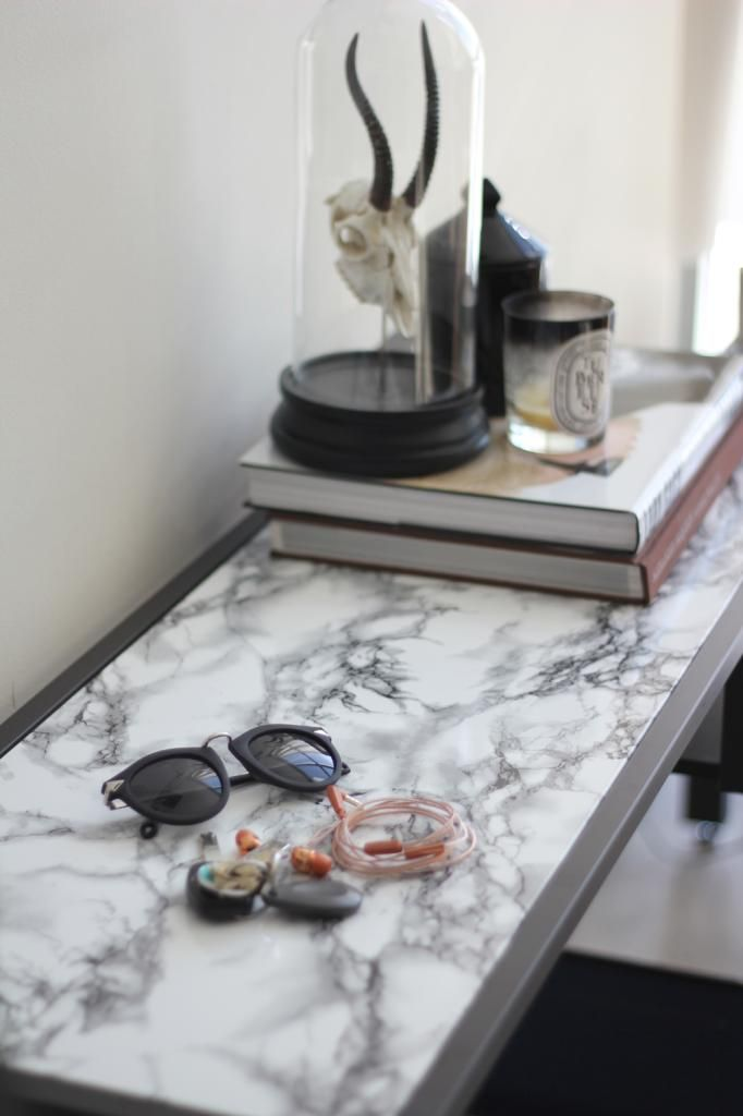 Superb How To Diy A Faux Marble Table Surface U0026 Spray Paint Table White To Match  The