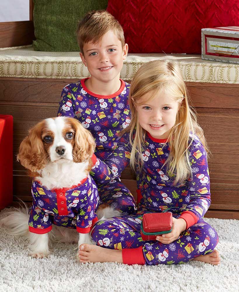 Matching Children and Pet Christmas Pajamas Matching