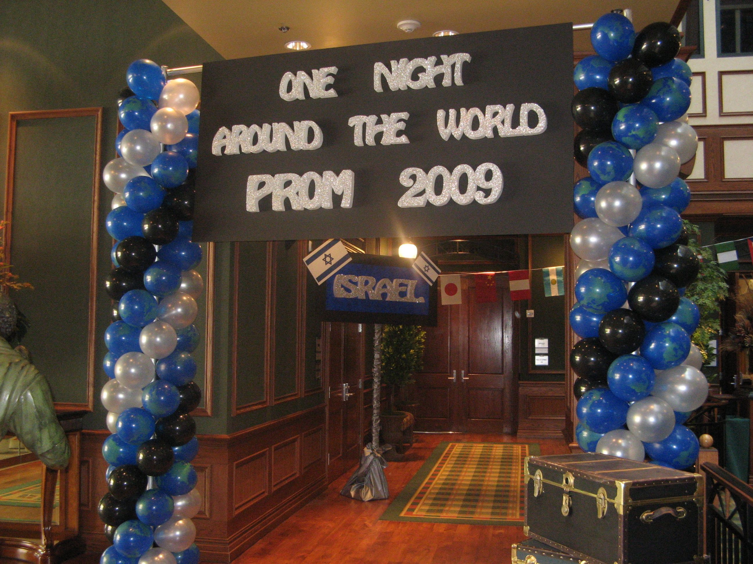 Around the world prom for Around the world party decoration ideas