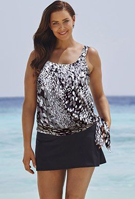 f2bb1004ff8f7 Modest Swimwear - Beach Belle Dew Drops Blouson Skirtini | Sand N ...