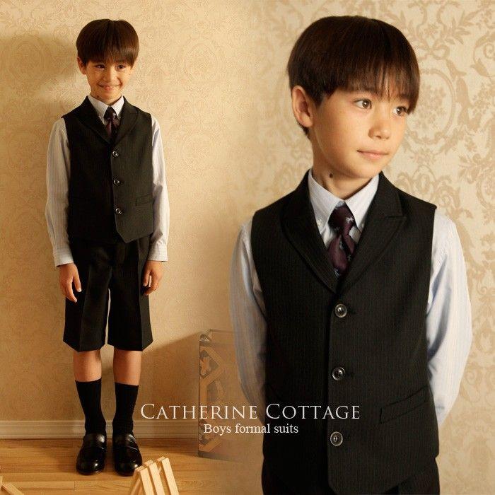 a942816f286d3 子供スーツ 卒業式 入学式に 110cm 120cm 130cm 男の子スーツ 衿付ベスト ...