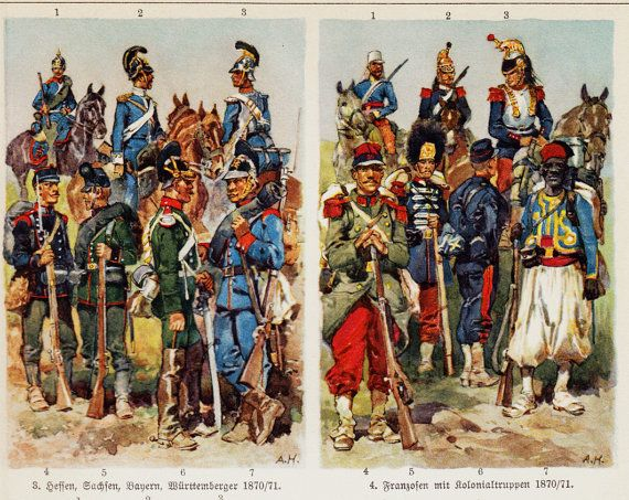 1923 militaria old print european military uniforms in for Spa uniform europe